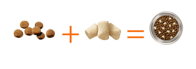 Kibble + Raw = Instinct Raw BOOST